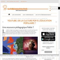 Youtube, de la culture pop à l'éducation populaire