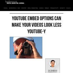 YouTube embed options can make your videos look less YouTube-y