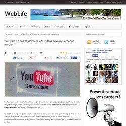 YouTube : 7 ans et 72 heures de vidéos envoyées chaque minute