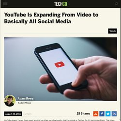 YouTube Is Expanding From Video to Basically All Social Media