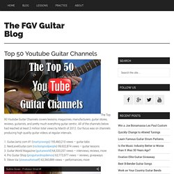Top 50 Youtube Guitar Channels