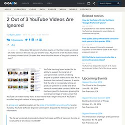2 Out of 3 YouTube Videos Are Ignored: Online Video News «
