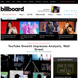 YouTube Growth Impresses Analysts, Wall Street