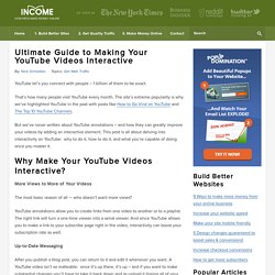 How to Make your YouTube Videos Interactive - The Ultimate Guide
