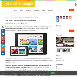 YouTube Kids est disponible en France