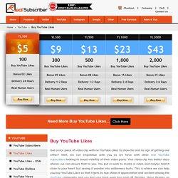 Buy YouTube Likes, Views