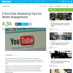 5 YouTube Marketing Tips for Better Engagement