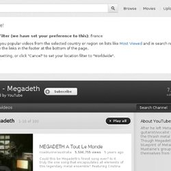 Megadeth's Channel -Youtube