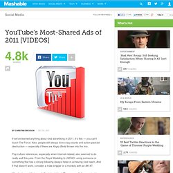YouTube's Most-Shared Ads of 2011