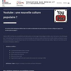 Youtube : une nouvelle culture populaire ?