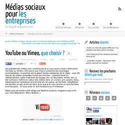 YouTube ou Vimeo, que choisir ?