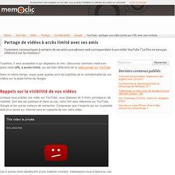 YouTube : partager une vidéo privée par URL avec ses contacts