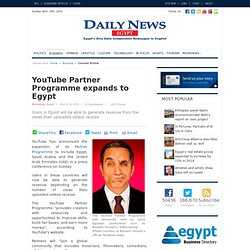 YouTube Partner Programme expands to Egypt
