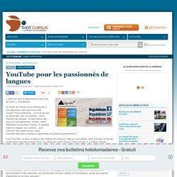 YouTube pour les passionnés de langues