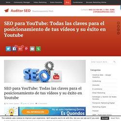 SEO para Youtube: Triunfa con tus vídeos y su posicionamiento web