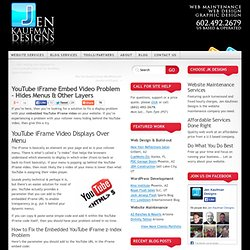 YouTube iFrame Embed Video Problem – Hides Menus & Other Layers | Jen Kaufman Designs