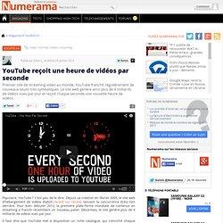 YouTube reçoit une heure de vidéos par seconde