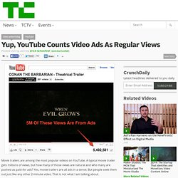 Yup, YouTube Counts Video Ads As Regular Views