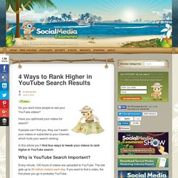 4 Ways to Rank Higher in YouTube Search Results