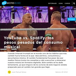 YouTube vs. Spotify: los pesos pesados del consumo musical