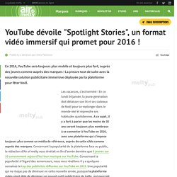YouTube dévoile Spotlight Stories, un format vidéo immersif qui promet pour 2016 !