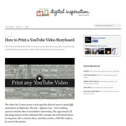 How to Print a YouTube Video - Storyboard Bookmarklet
