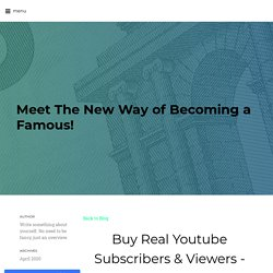 Buy Real Youtube Subscribers & Viewers - Discount Prices