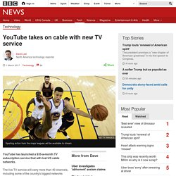 YouTube takes on cable with new TV service