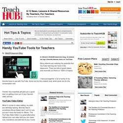 Handy YouTube Tools for Teachers