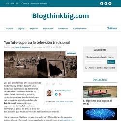 YouTube supera a la televisión tradicional