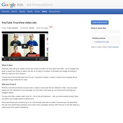 YouTube TrueView video ads – Ad Innovations – Google Ads