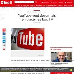 YouTube veut désormais remplacer les box TV