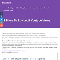 Buy Youtube Views - #1 HQ Organic Views Provider