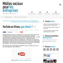 YouTube ou Vimeo, que choisir ?