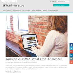 YouTube vs. Vimeo, What's the Difference?