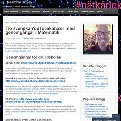 Tio svenska YouTubekanaler med genomgångar i Matematik
