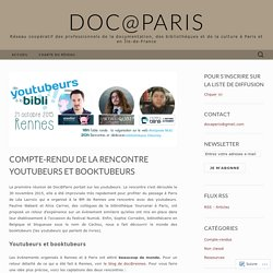 Rencontre youtubeurs et booktubeurs