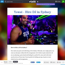 How to Hire a DJ in Sydney?