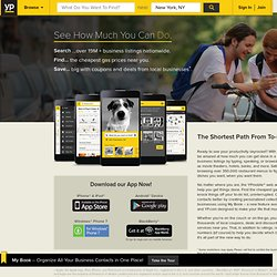 YPMobile - Yellow Pages on your iPhone, BlackBerry or Android!