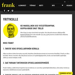 Yrityksille – Frank