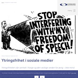 Ytringsfrihet i sosiale medier — Advokatfirmaet Eurojuris Haugesund AS
