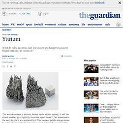 Yttrium [video] | @GrrlScientist | Science | guardian.co.uk