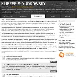 Yudkowsky - Singularity