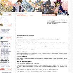 Yugioh / Yu-Gi-Oh : Regles du jeu Yugioh cartes