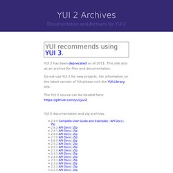 YUI 2: Connection Manager