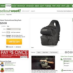 Yukon Tactical Scout Sling Pack - Sellout.Woot