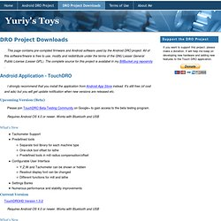 Yuriy's Toys: DRO Project Downloads