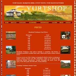 Yurt Shop - Prices