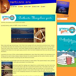 Yurtstory: the history of yurts ancient and modern