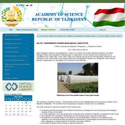 Tajikistan Yusufbekov Pamir biological institute